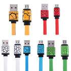 Micro USB Charging Sync Data Cable For Samsung Note 4 S7 HTC Android Phone
