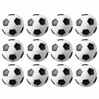 12 Pack Black and White Engraved Table Soccer Foosballs Replacements