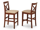 Set of 2 X-Back stool in Dark Brown finish