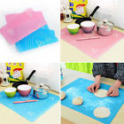 Silicone Fondant Clay Pastry Cake Tool Baking Cut Tray Mat Knife Board Non Stick