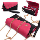 Womens Link Wallet Case & Crossbody Clutch Cover for Smart Cell Phones CRWL1