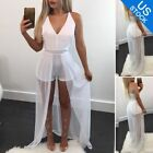 Women Elegant 2 Pieces Set Crop Top + Shorts underneath Dress Casual Stylish