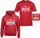 LIVERPOOL MAD T SHIRT HOODIE Childrens kids PERSONALISED FREE ages 3 to13