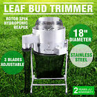 "18"" Stainless Steel Leaf Bud Trimmer Rotor Spin Bud Trim 3 Speed Hydroponic"