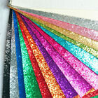 Crafts - Zaione Sparkle Chunky Craft Glitter Fabrics Leather Vinyl DIY Sheet Bow Material
