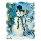 Sweeping Snowman Tshirt Sizes/Colors