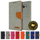 GOOSPERY Canvas Flip Stand Wallet Case for Samsung Galaxy Note Fe / 7 /5 / 4 / 3