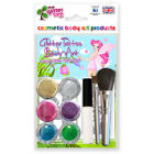 Fairy Glitter Tattoo Kit! 24 Stencils,6 Cosmetic Glitters,Glue & 2 Brushes!