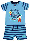 Boys Baby Champion Cute Teddy Bear T-Shirt & Stripe Shorts Set 1 to 6 Months