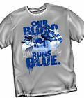 Los Angeles Dodgers Our Blood Runs Blue T-Shirt  - Adult Sizes Brand New