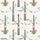 CIRCA 52 WOODLAND PARTY BIRCH ORGANIC QUILTING QUILT COTTON FABRIC Free Oz Post