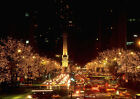 Art print POSTER Michigan Avenue at Christmastime
