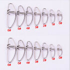 100×Crosslock Snap Fishing Barrel Swivel Safety Snaps Hooks Mix Size LBS Test