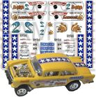 Snake and Mongoose 1:64 WATER SLIDE DECALS FOR HOT WHEELS, MATCHBOX, SLOT CAR: