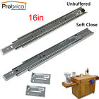 """1-15Pairs 16"""" Soft Close Ball Bearing Full Extension Drawer Slides or Brackets"""