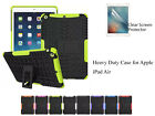 For Apple iPad Air Heavy DutyTPU Back Stand case & screen protector