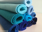 BLUE Shades Wool Blend Felt Craft Pack *10 pieces per pack* Choice of Pack Sizes