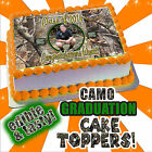 2017 Camouflage Graduation Cake topper or cupcakes edible decal picture transfer
