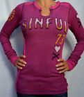 Sinful by Affliction ADANA Woman's Thermal - Reversible S2235 - NEW