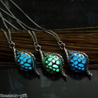 GIFT Hollow Out Spherical Luminous Spiral Conch Design Pendant Necklace
