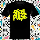 New Steel Pulse Reggae Band Music Logo Men's Black T-Shirt Size S to 3XL
