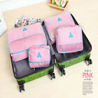 4Pcs  Clothes Storage Cosmetic Bags Packing Cube Travel Luggage Organizer Pouch