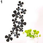 12Pcs Home Decor Wall Decal 3D DIY Flowers Clover Art Wall Stickers Fantastic
