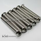 UNC 1/4 Inch A2 Stainless Steel Hexagon Socket Button Screws / Dome Bolts