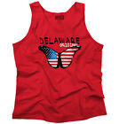 Delaware State Americana Patriotic Butterfly Cute Gift Ideas Tank Top Shirt
