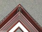 "4.25"" Picture Frame gallery Cherry Wood Frame Thomas Kinkade red burgundy B4R"