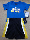 NEW NIKE BOYS 12 or 24 Months SHORTS & T-Shirt SET OUTFIT NWT Free US Shipping