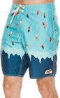 New Ambsn Men's Wipeout Boardshort Lace Polyester Blue