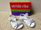 NEW STRIDE RITE Girls Butterscotch style White SANDALS Sz 5 Wide Width Free Ship