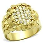 HOPE CHEST JEWELRY - MEN'S GOLD TONE NUGGET CRYSTAL FASHION RING - SIZE 10, 11