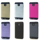 Lot/6 Brushed Finish Hybrid Case for Samsung Galaxy Note 3 Wholesale