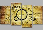 Large Abstract Patterns Unique Wall Art Four Panel Split Canvas Picture