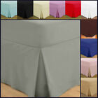 Fitted Valance Sheets Egyptian Cotton Bedding Double Single Super King Size Deep