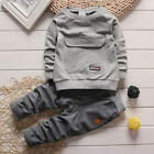 Outfits  Sets 2PCS NEW Toddler Kids Baby Boys long sleeve Top+Pants fit