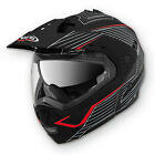 CABERG TOURMAX SONIC MATT BLACK/RED ENDURO MOTORCYCLE ADVENTURE HELMET