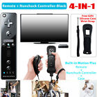Built in Motion Plus Remote Controller + Nunchuck + Case For Nintendo Wii &Wii U