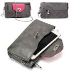 Womens Fashion Smart-Phone Wallet Case Cover & Crossbody Purse EI64-3
