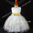 #CFW8 Baby Flower Girl Christening Wedding Holy Communion Church Prom Gown Dress