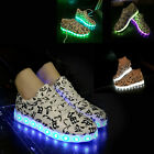 HIG Active Adult LED Light Up Sneaker Low Top Unisex Luminous Lovers Party Shoes