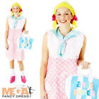 Looby Loo Dress + Bag Ladies Fancy Dress TV Character Womens Costume Outfit New