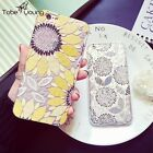 "Luxury Sunflower Silicone Soft Clear Phone Cover Case For 5.5"" iPhone 6 6s Plus"