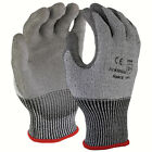 SDI 1 Pairs 13 Gauge HPPE Cut Resistant Polyurethane Palm Coated Glove Gray New