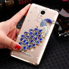 Bling Crystal Gems Diamonds Thin Clear Soft Back Shell Case Cover For Huawei #N