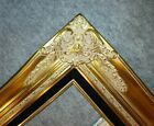 "4"" Gold Leaf Wood Antique Picture Frame wide photo art wedding gallery B9Gb"