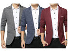 NEW Men's Stylish Formal Casual One Button Suit Jacket Wedding Party Blazer Coat