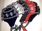 Choose Color SNOWFLAKE PATTERN WINTER Knitted Lined Hat One Size 100% Acrylic